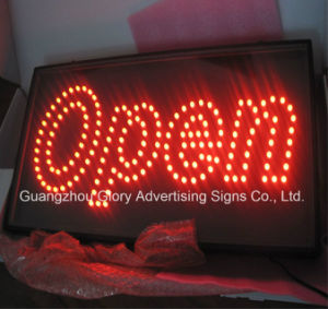 Outdoor and Indoor Acrylic Open LED Sign pictures & photos