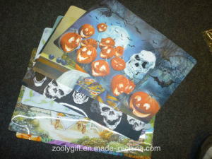 Skull Design Printing PP Table Placemat pictures & photos