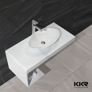 Kingkonree Marble Solid Surface Stone Bathroom Vanity Top pictures & photos