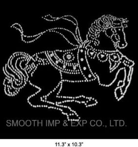 Wholesale Fashion Design Horse Diamond Pattern Rhinestone Iron on Transfer pictures & photos