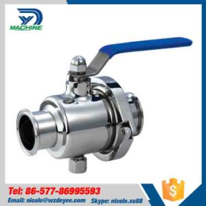 SS304 Non Retaining Clamped Ball Valve pictures & photos