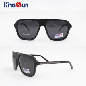 Men′s Plastic Fashion Sunglasses with Polarized Lens Ks1124 pictures & photos