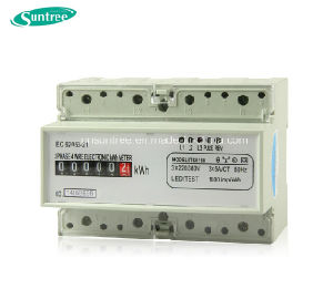 DIN Rail Three Phase Power Meter Digital Electric Meter Electric Meter pictures & photos