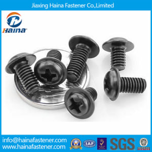 Electronic Hardware Micro Screw in Round Head with Flange pictures & photos