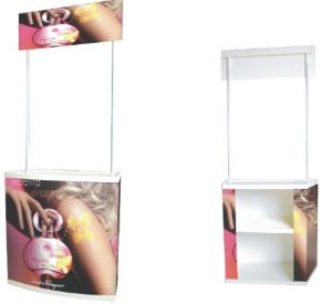 High Quality Folding PVC Promotion Table, PVC Promotion Counter pictures & photos