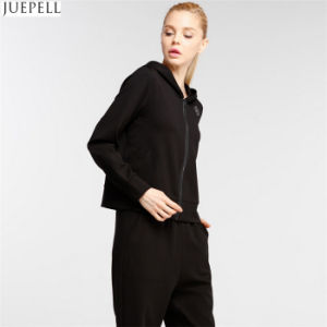 European and American High End Women′s Fashion Sports Leisure Suit Hooded Long Sleeve Sweater Two-Piece Women Sports Suit pictures & photos
