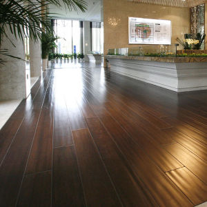Strand Woven Bamboo Flooring Brown Color Handscraped pictures & photos