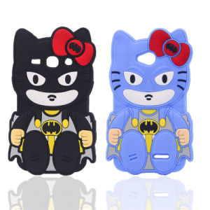 Bow Hello Kitty Bats Silicone Case for LG G3 K10 K5 K7/for Samsung S7 S4 S5 S6 5s Se Phone Accessories (XSY-009)