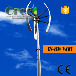 2kw Vertical Axis Wind Generator/Turbine off-Grid/on-Grid Complete System pictures & photos