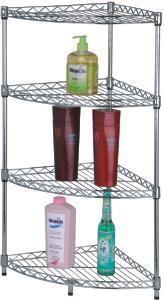 Fashionable 4 Tiers Adjustable Metal Wire Bathroom Corner Rack pictures & photos