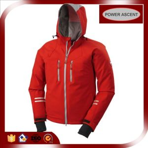 2015 Mens Waterproof Red Softshell Jacket with Waterproof Cuff pictures & photos