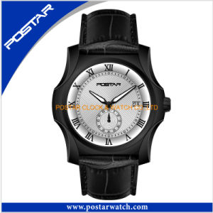Swiss Movement Quartz Watch for Men with Genuine Leather Band pictures & photos