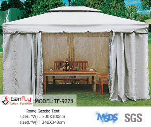 Aluminum Frame Polycarbonate Garden Gazebo with Sidewall pictures & photos