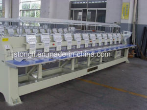 8 Heads 9 Needle Plain Flat Embroidery Machine pictures & photos