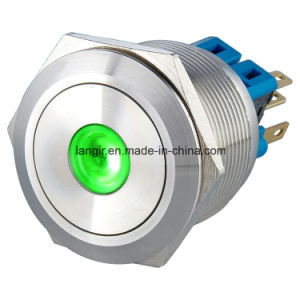25mm Momentary 1no1nc DOT LED Metal Pushbutton Switch (Stainless steel) pictures & photos