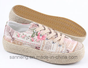 Canvas Shoe with Hemp Rope Foxing (SNC-280016) pictures & photos