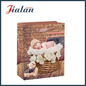 Custom 4c Printed Baby Sleeping Paper Shopping Carrier Gift Bags pictures & photos