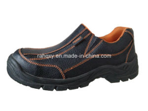 Casual Style Split Embossed Leather Safety Shoes (HQ05057) pictures & photos