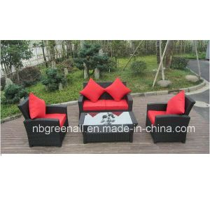 Wicker Furniture Rattan Sofa Set for Garden with Aluminum Frame pictures & photos