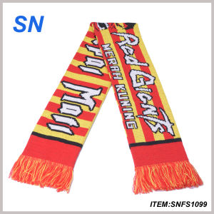 2015new Custom Jacquard Print Football Scarf Fan Scarf Fan Scarf pictures & photos