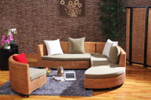 Creative Home Rattan Furniture Living Room Round Sofa Bed