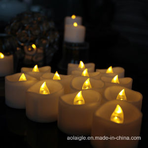 Wavy Shape Tealight Battery LED Candle with Timer Function