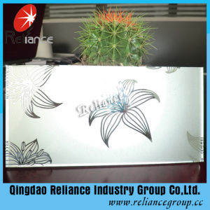 Clear Acid Etched Glass/Frosted Glass/Sandblasted Glass/Colored Frosted Glass/Tinted Acid Etched Glass/Frost Glass/Sandblasting Glass pictures & photos