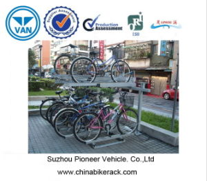 10 Bike Double Deck Bike Rack pictures & photos