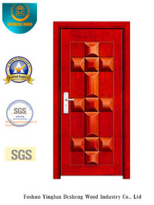 Security Door with Red Color for Exterior (b-3020) pictures & photos