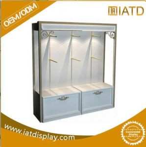 Pop up Wooden Cabinet Retail Tiles Dish Display Comic Books Rack with Lighting pictures & photos