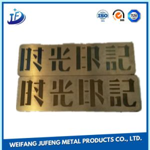 OEM Alloy/Steel/Aluminum/Stainless Steel/Cooper/Brass Bending/Stamping Metal Name Plates pictures & photos