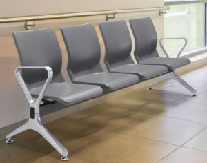 Durable Polyurethane PU Aluminum Waiting Chair in Public Area Like Airport Hospital H71 pictures & photos
