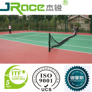 Silicon PU Seamless Design Tennis Court Surface pictures & photos