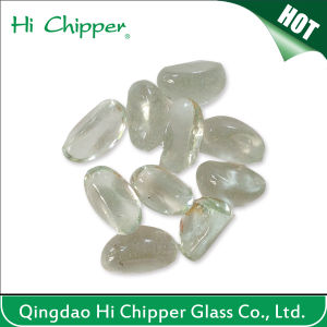 Clear Cashew Shape Glass Gemstone for Fireplace pictures & photos