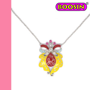 Red & Yellow Enamel Owl Fashion Necklace #16646 pictures & photos