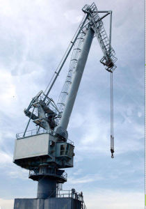 China Shipyard Mobile Container Jib Portal Crane pictures & photos
