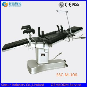 ISO/CE Approved Fluoroscopic Hospital Manual Multi-Function Hydraulic Operating Room Tables pictures & photos