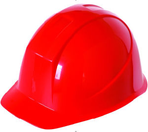 Red Construction Work Hat with Chin Strap pictures & photos