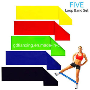 5 Sets Loop Resistance Bands of 5 Levels for Men and Women Home Gyms, Yoga, Pilates, Physical pictures & photos