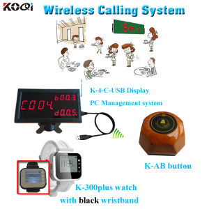 Restaurant Waiter Calling System Hot Sell Watch Restaurant Device PC Management K-4-C-USB+K-300plus+K-Ab pictures & photos