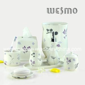 Flower Decal Porcelain Bathroom Set (WBC0708A) pictures & photos