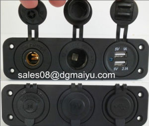 Double USB 12V Merit Fridge & 12V Cigarette Power Socket Flush Mount pictures & photos