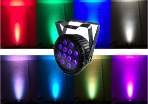 DMX512 12*12W RGBWA 5 In1 Outdoor LED Flat Slim PAR pictures & photos
