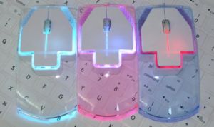 Colorful Gift Computer Mute Luminous Ultrathin Transparent 2.4G Wireless Mouse pictures & photos
