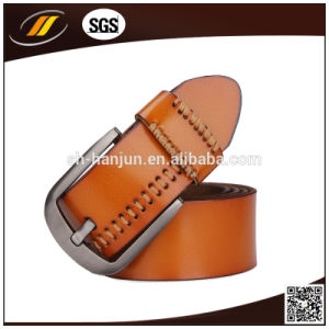 Genuine Leather Belt Fashion Men Belt with Pin Buckle (HJ3001) pictures & photos