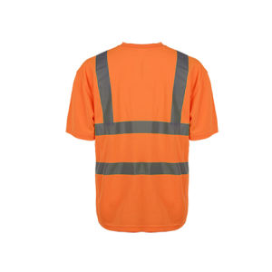 Breathable High Visibility Reflective Safety T-Shirts pictures & photos