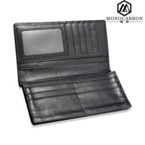 Factory Handmade Fashion Genuine Leather Wallet with Carbon Fiber pictures & photos