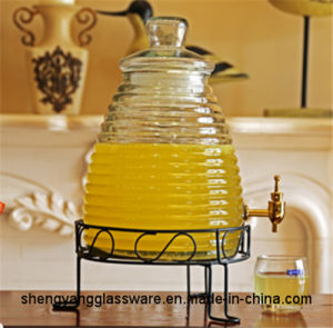 Hot Sell Large Size Juice Storage Jar Beverage Storage Tank Glass Juice Container pictures & photos