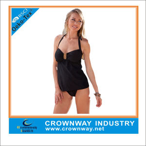 Sexy Ladies Plus Size Padded Black Swimwear pictures & photos