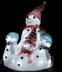 Shopping Mall Christmas Decoration 3D LED Motif Snowman Light pictures & photos